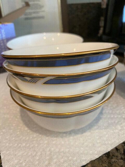 "Lenox Royal Kelly 4 dessert  bowls 4 7/8 "" fruit last set"