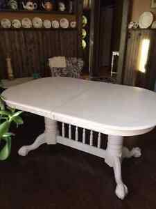 Restored and Refinished Large Table/ with 2 leaves
