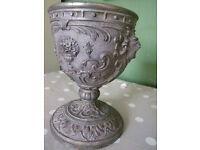 Chalice made of spelter absolutly gorgeous 7 inches high, 170mm high