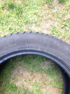 Full Set 255 50 R19 Winter Continental Tires Barely Used