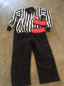 Referee Jersey, Pants, Elbow Pads and Shin Guards