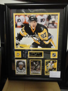 SIDNEY CROSBY AUTOGRAPHED CUSTOM FRAMED 8X10 AT SLAPSHOT!