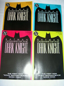 BATMAN : LEGENDS of the DARK KNIGHT # 1 :ALL 4 COLOUR VARIANT COVERS.SHAMAN.1989