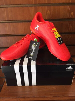 Adidas X16 4 Fg Junior Solar Red Silver