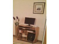 Curved PC Trolley Pine