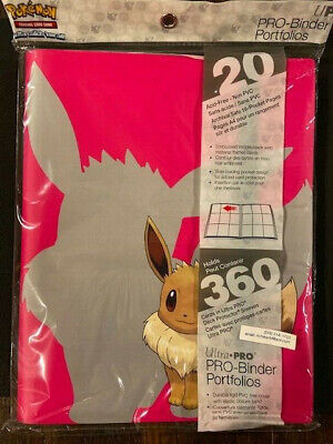 ULTRA PRO  Pokemon EEVEE (new design) PRO portfolio album Binder (PRO)360 cards