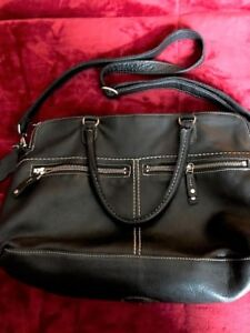 Roots Pebble Leather Bag