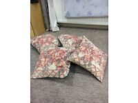 4 embroidered cushions 35cm square