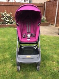 Stokke Scoot Purple in good condition (includes rain cover, mosquito net, cup holder & user manual)