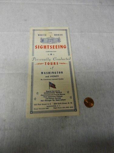 White House Sightseeing Corporation 1950