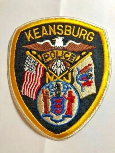 UNUSED KEANSBURG  POLICE PATCH NEW JERSEY POLICE DEPT
