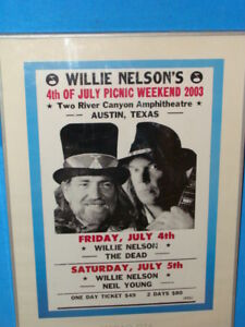 Willie Nelson Concert Poster 4th of July 2003