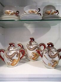 Kutani Oriental Tea Set