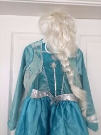 Children's Elsa Dressing Up Dress Age 7 to 8