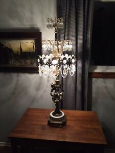 2 matching Antique brass lamps