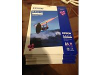 10 sealed packs Epson Photo Paper 194 gm/m2. Unopened - Price Reduced