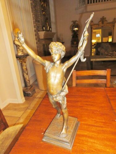 19th Century Bronze Figure of a Youth ,Jules LaFrance