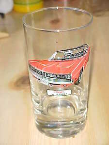 1969 Dodge Charger drinking glass