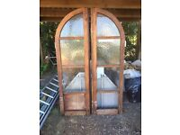 Reclaimed 1930's Hardwood Mahogany External Archway door