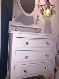 Pretty Vintage Dressing Table with 3 Drawers.