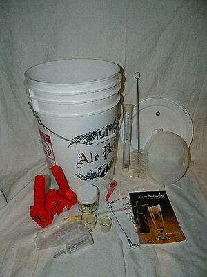 $59.99 - LD Carlson Beer making kit supplies bucket capper book funnel brush hydrometer