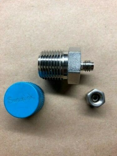 "Swagelok SS-200-1-8, 1/8"" x 1/2"" Male Connector, Tube, 316 Stainless"