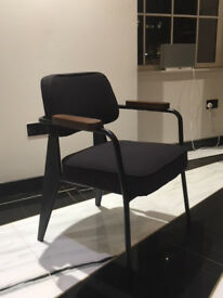 Fauteuil Direction, Jean Prouvé, 1951 inspired chairs - Navy