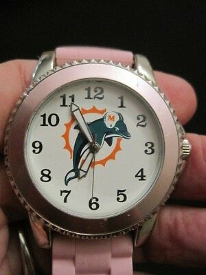 Miami Dolphins NFL Women's Watch with Pink Strap by Game Time - Miami Dolphins Womens Watches