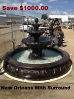 Save $1000.00 on New Orleans Fountain & Surround