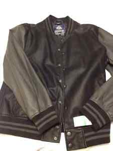 New American Rag Men's Faux Black Leather Bomber Jacket
