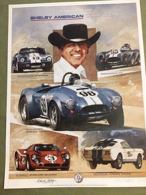 Shelby American Collection Poster - Autographed Limited Edition 2007