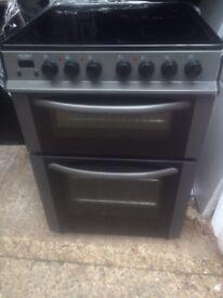 £115.99 Loggik grey ceramic electric cooker+60cm+3 months warranty for £115.99