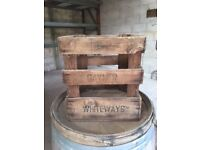 Very old vintage wooden crate