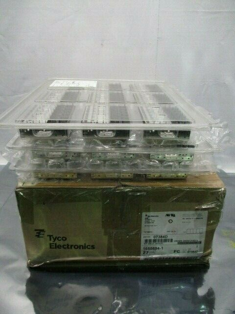 1 Lot of 27 TE connectivity 1658894-1 I/O Connectors 2 X 6 SFP CAGE, 100886