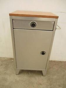 C11021 Vintage Metal Cabinet Side Table Industrial Kitchen Bedsid Unley Unley Area Preview