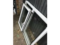 UPVC window white 130x10cm