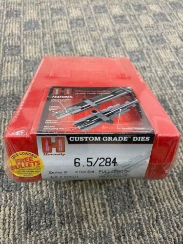 Hornady 6.5/284 Custom Grade Two Die Set Series III 546301 Free Shipping