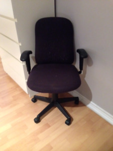 Black Material office chair