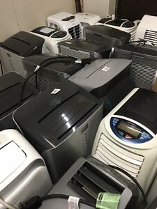 MIXED LOT OF PORTABLE AC UNITS AND DEHUMIDIFIERS (ALL POWER ON)
