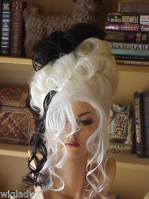 Cruella De Vil Wig (HALLOWEEN SPECIAL VEGAS WIG CRUELLA DE VIL UP DO LOVELY CURLS BOLD STYLE)
