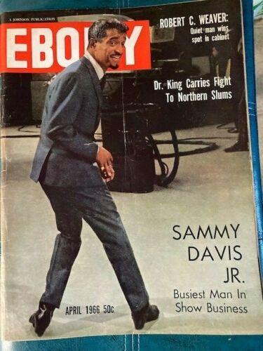 Vintage Ebony Magazine Apr 1966 Sammy Davis Jr.,The Busiest Man in Show Business