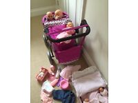 Children Toys - A Baby Bundle inc babies, buggy, pushchair, bag, carrier, and other accessories