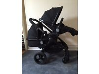 Icandy Peach 3 Black carrycot and seat