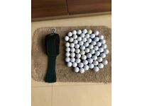 Golf Balls x 63 - most are TopFlite and 1 Golf club cover. Collect Fulham