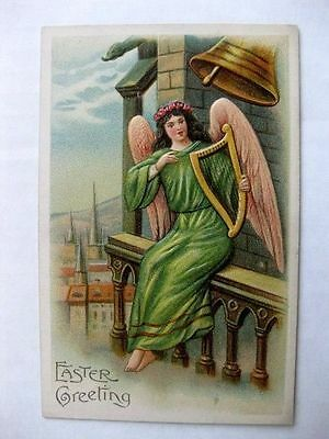 1900s Angel Ringing Chrch Tower Bell Postcard