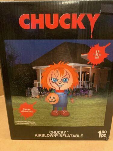CHUCKY Childs Play Movie Good Guys Halloween Airblown Inflatable LED Yard Decor