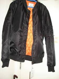 $75 · BRAND NEW NEVER WORN BLACK BOMBER JACKET