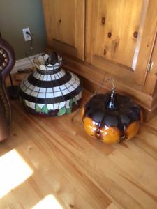 Vieilles lampes décor vintage