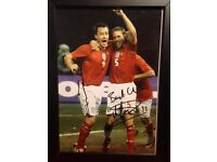 Framed signed photo of John Terry and Mathew Upson in England strip with cert of authenticity