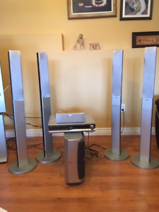 JVC TH-C60 5-Disc DVD Home Theater System Speakers Included